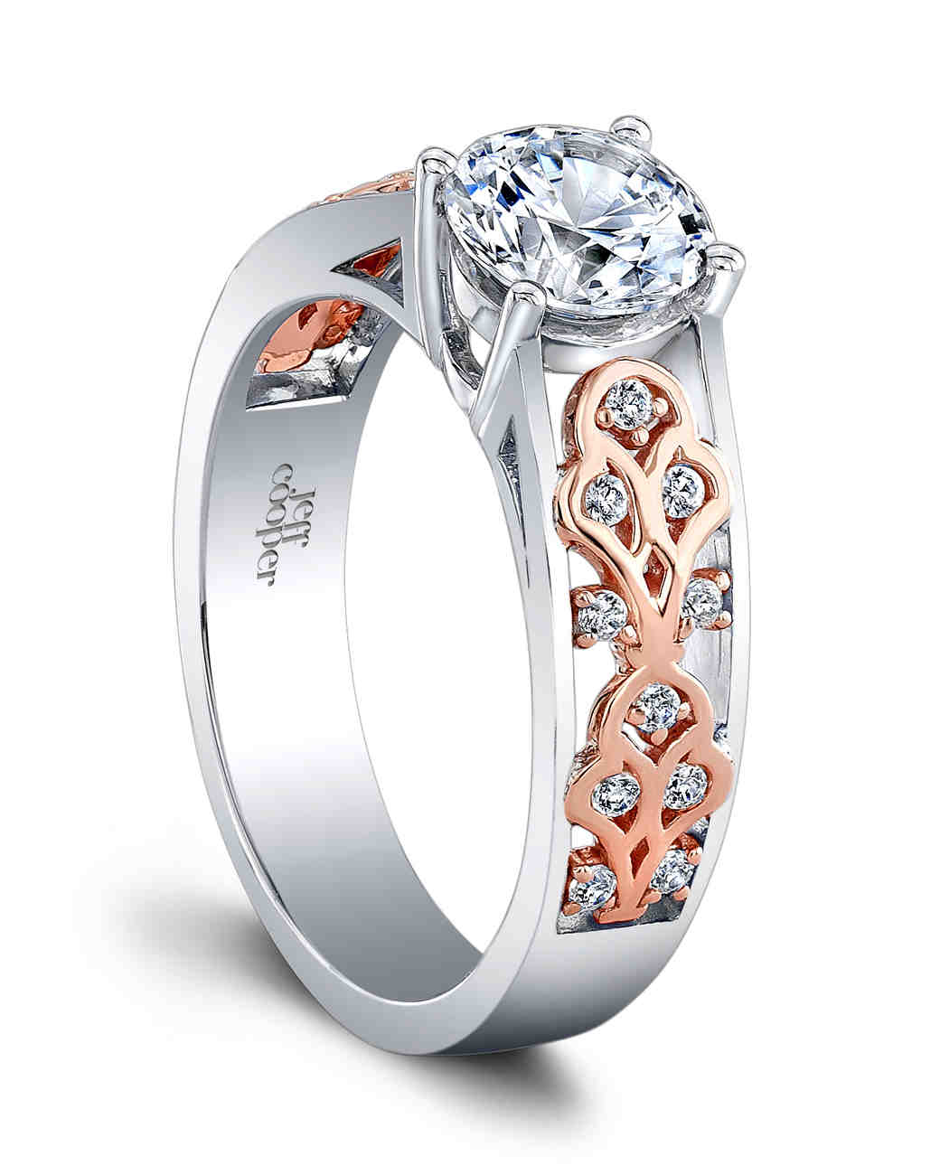 Jeff Cooper Designs Alessia Rose Gold engagement Ring