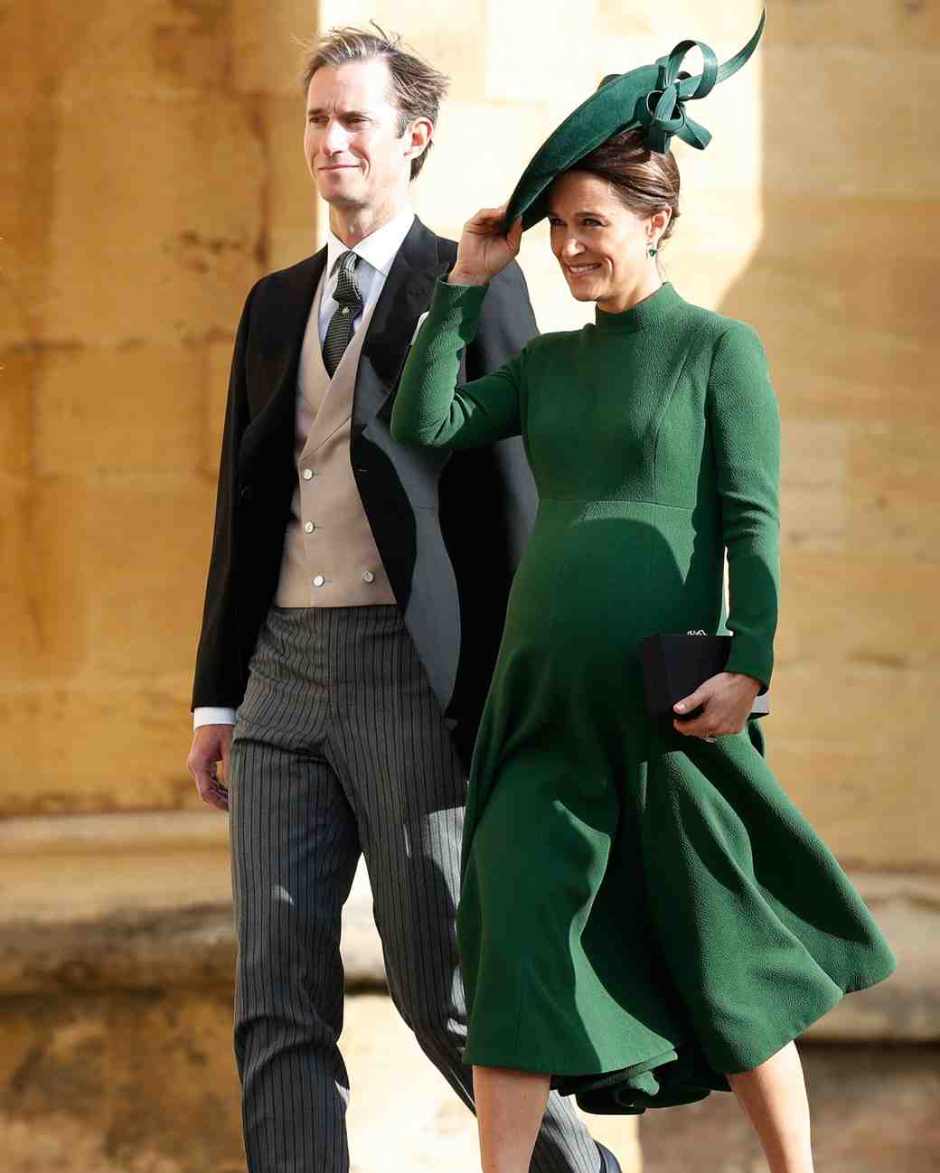 pippa and james matthews arrive at princess eugenie's royal weddinf