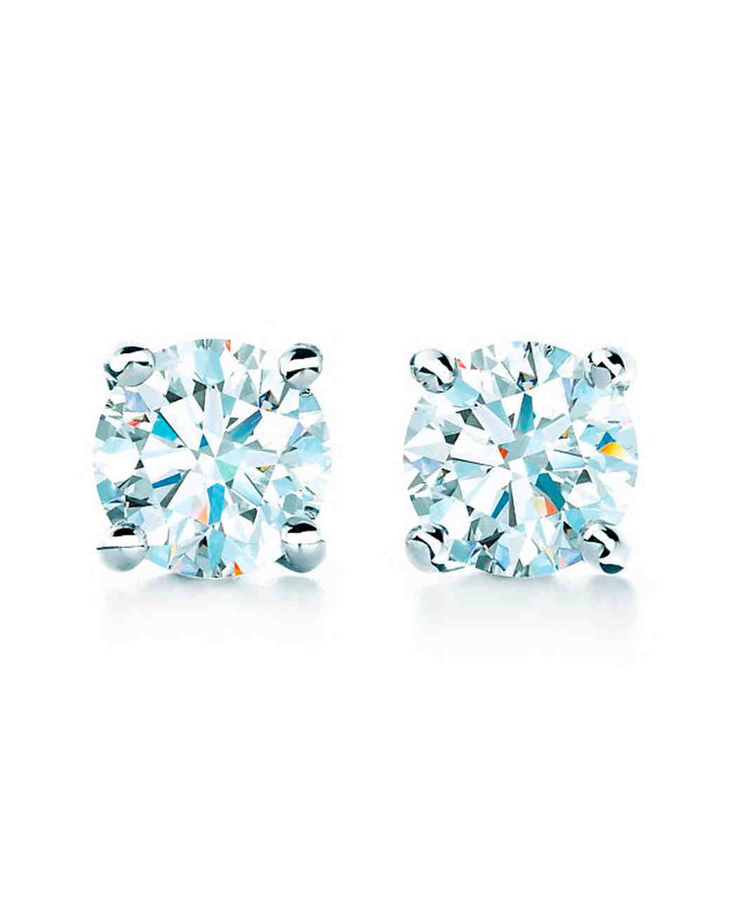 platinum anniversary gifts solitaire diamond earrings tiffany