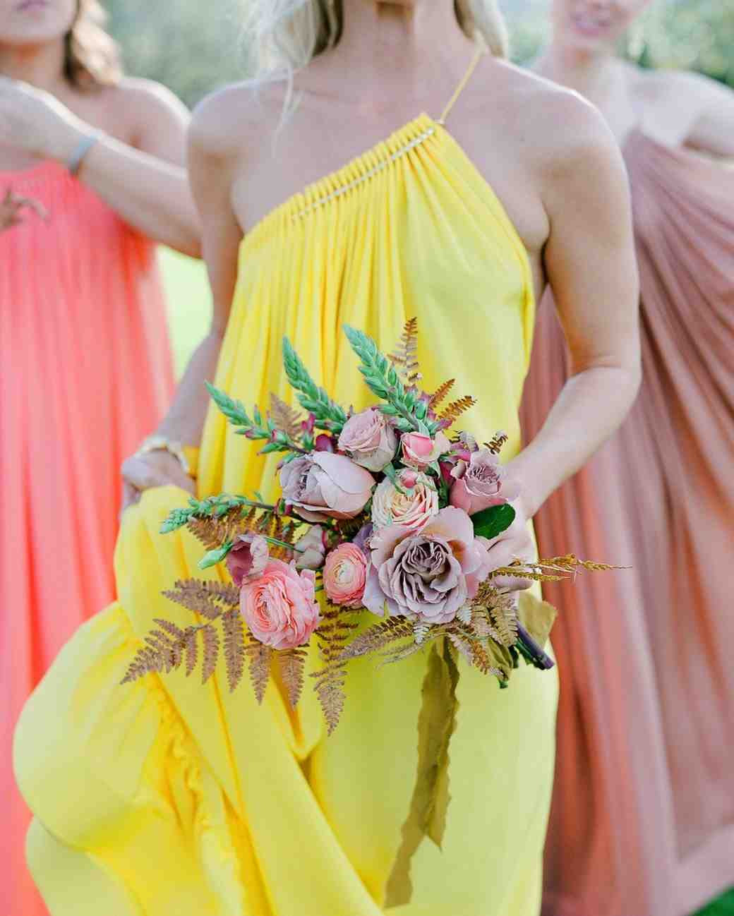 colorful bridesmaids