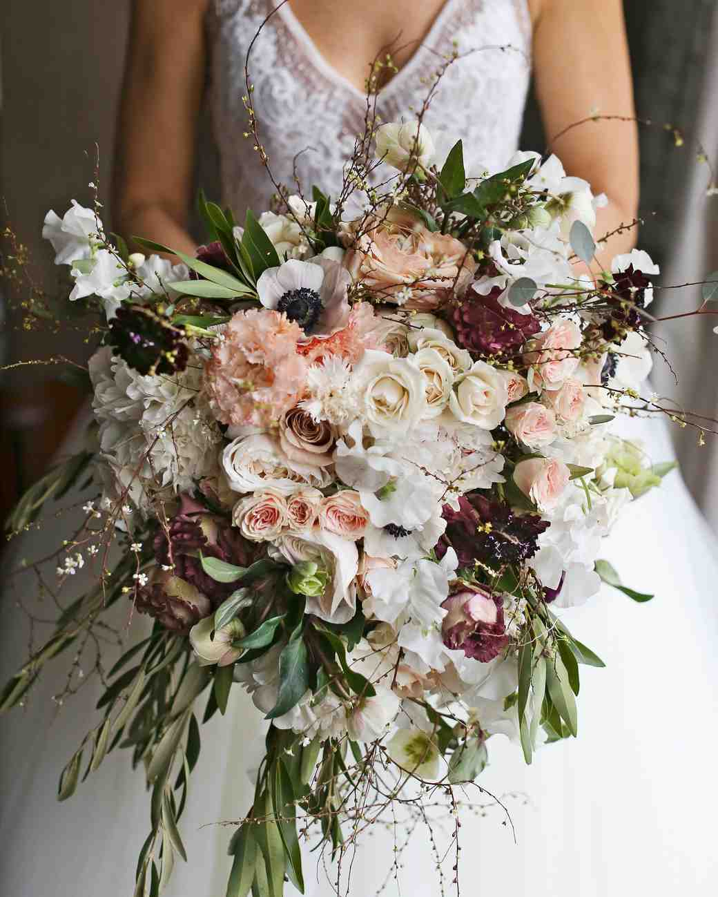 Flowers Wedding Ideas: 32 Chic Cascading Wedding Bouquets