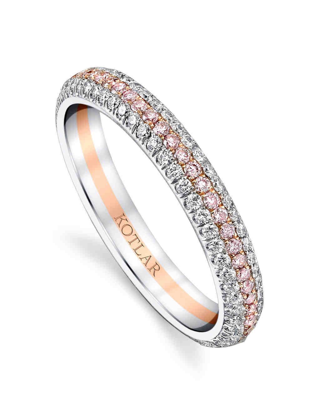 sky and by bezel products front with diamonds round diamond ring bands set band