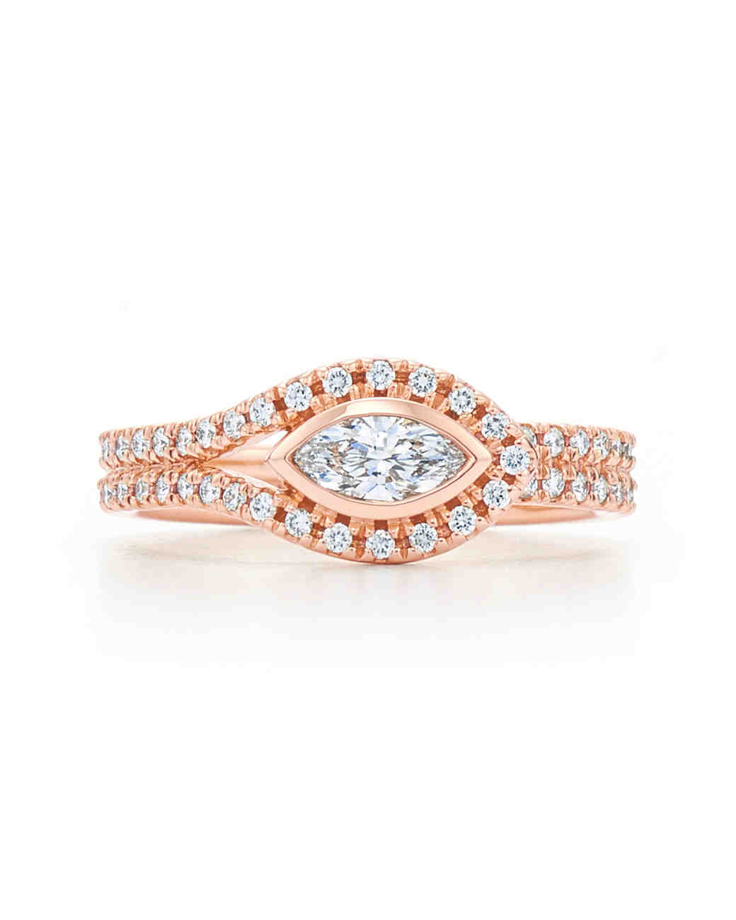 Kwiat Marquise-Cut Rose Gold Silhouette Engagement Ring