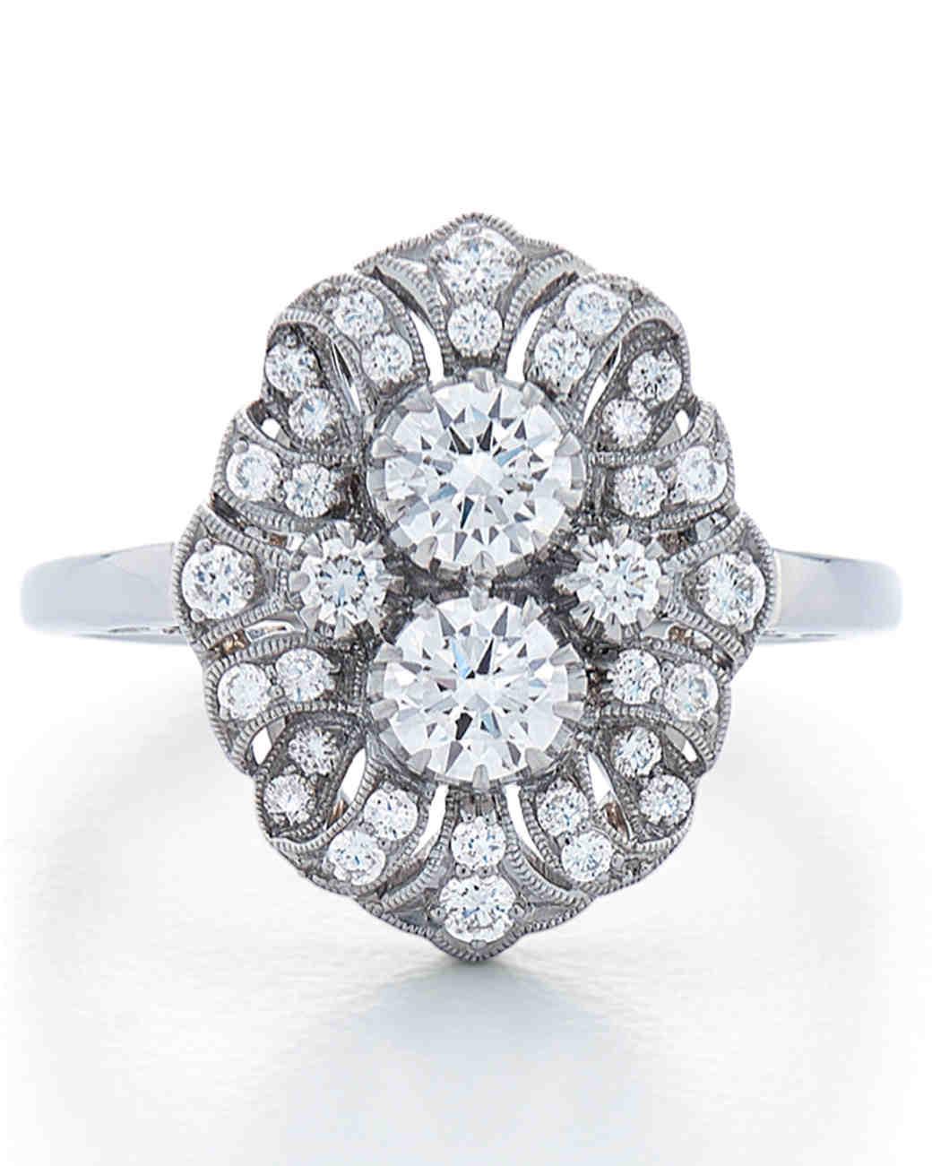 Kwiat vintage art deco double-stone engagement ring
