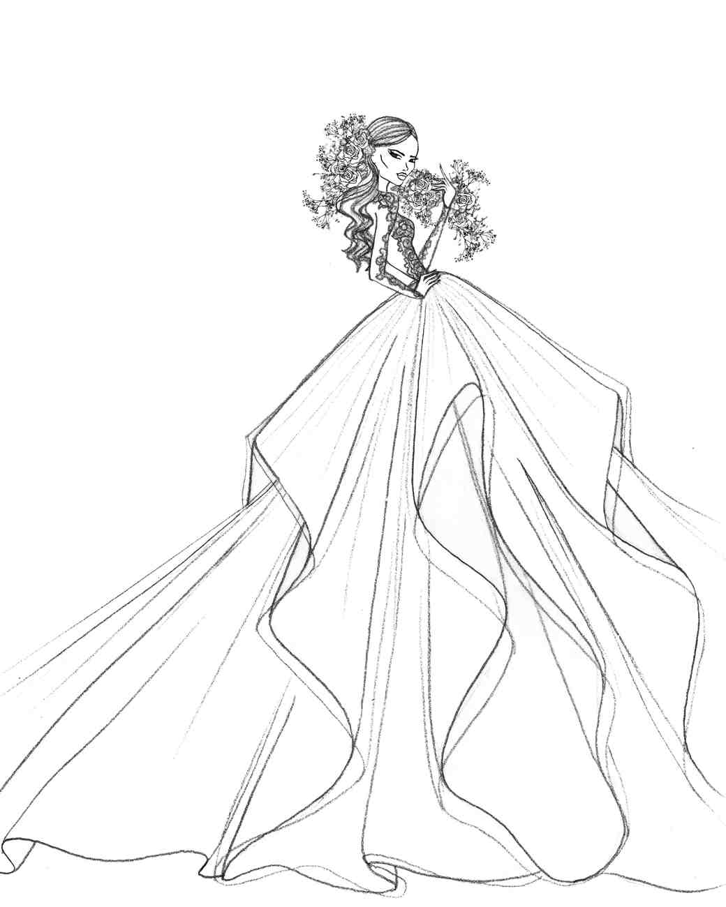 hayley paige dress sketch