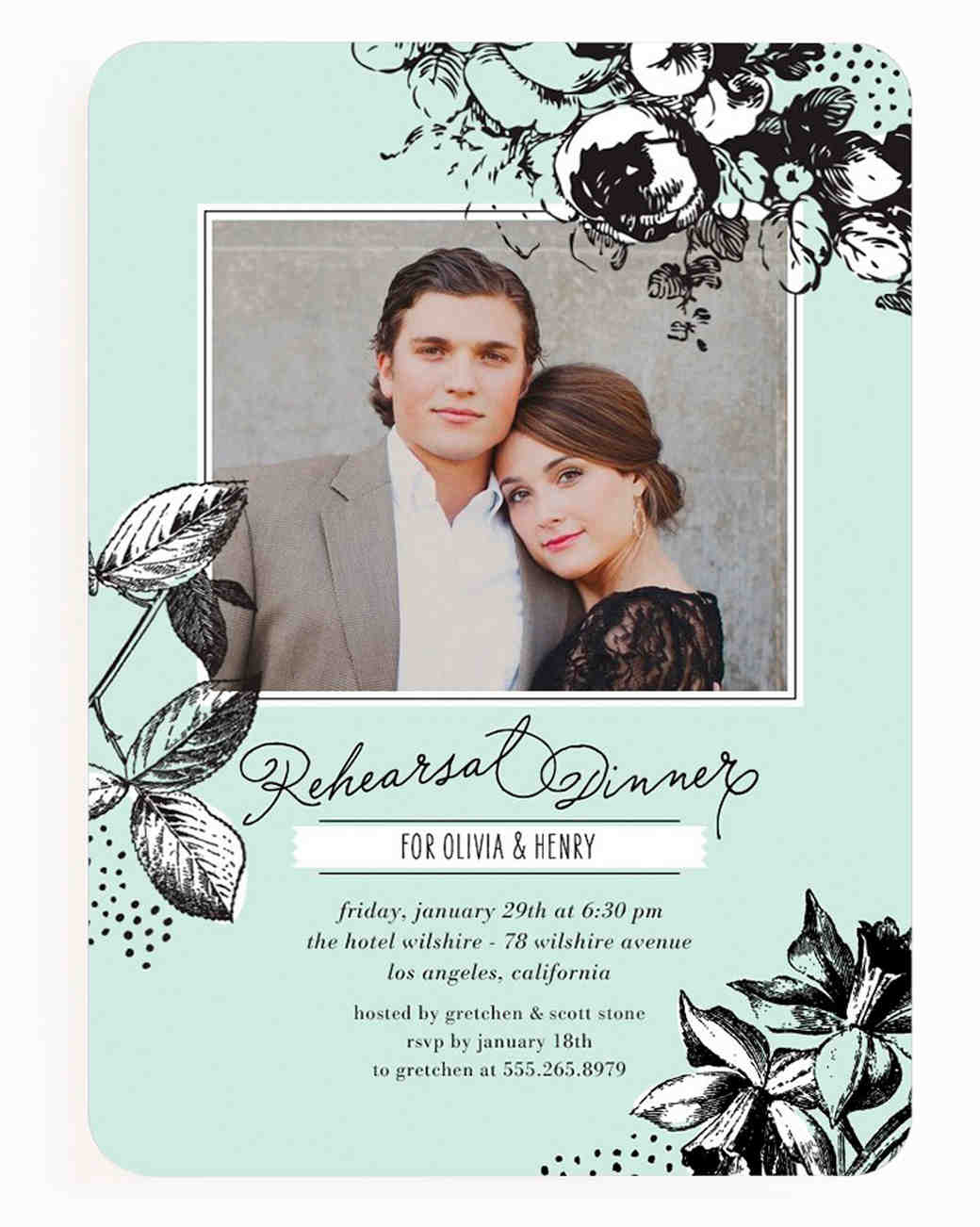 Party invitations martha stewart weddings ready set rehearsal dinner stopboris Images