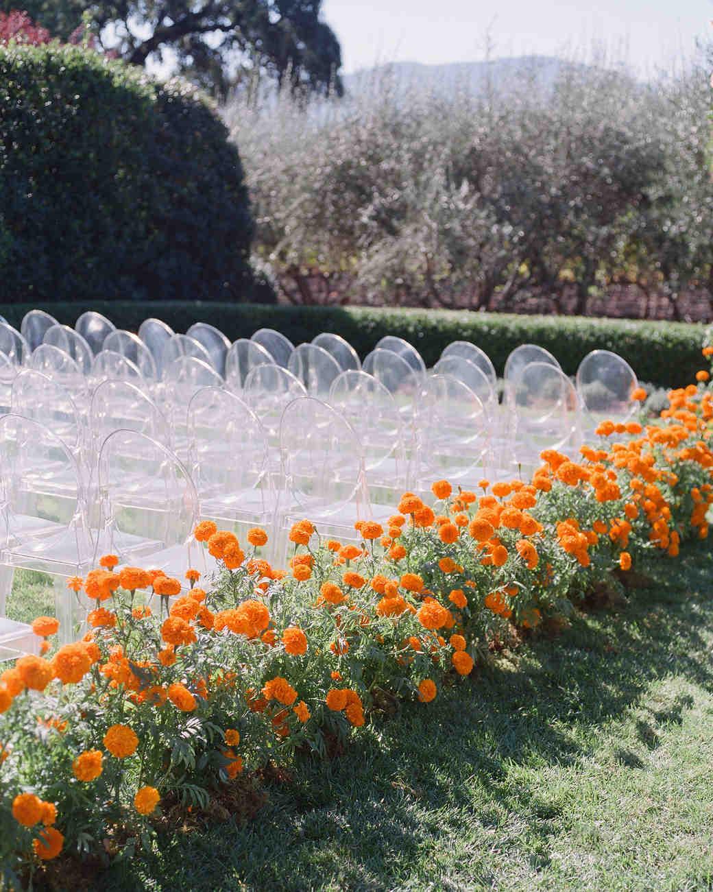 jenna alok wedding wine country california marigolds aisle