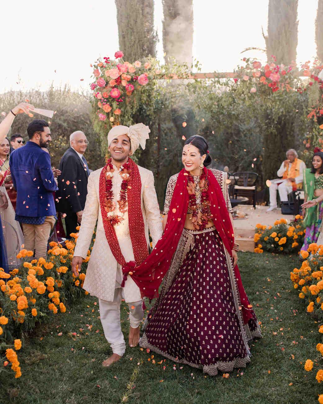 jenna alok wedding wine country california recessional