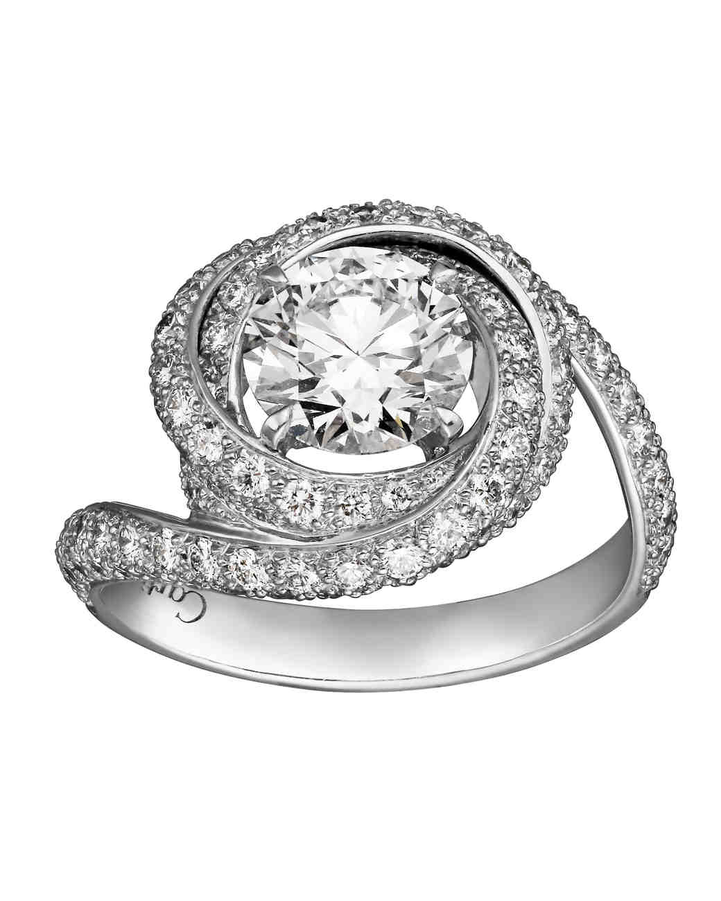 Cartier vintage-inspired trinity engagement ring