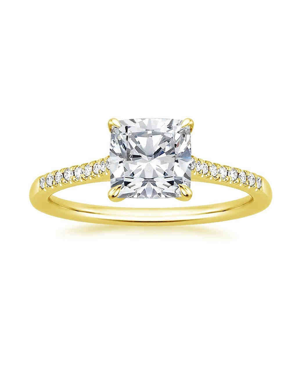Brilliant Earth Yellow Gold Square-Cut Diamond Engagement Ring