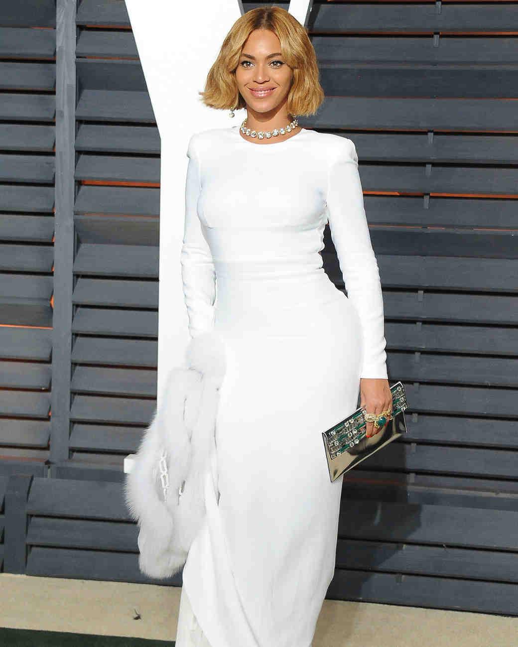 10 Times Beyoncé Wore Wedding Dresses Just Because | Martha Stewart Weddings Design Inspirations