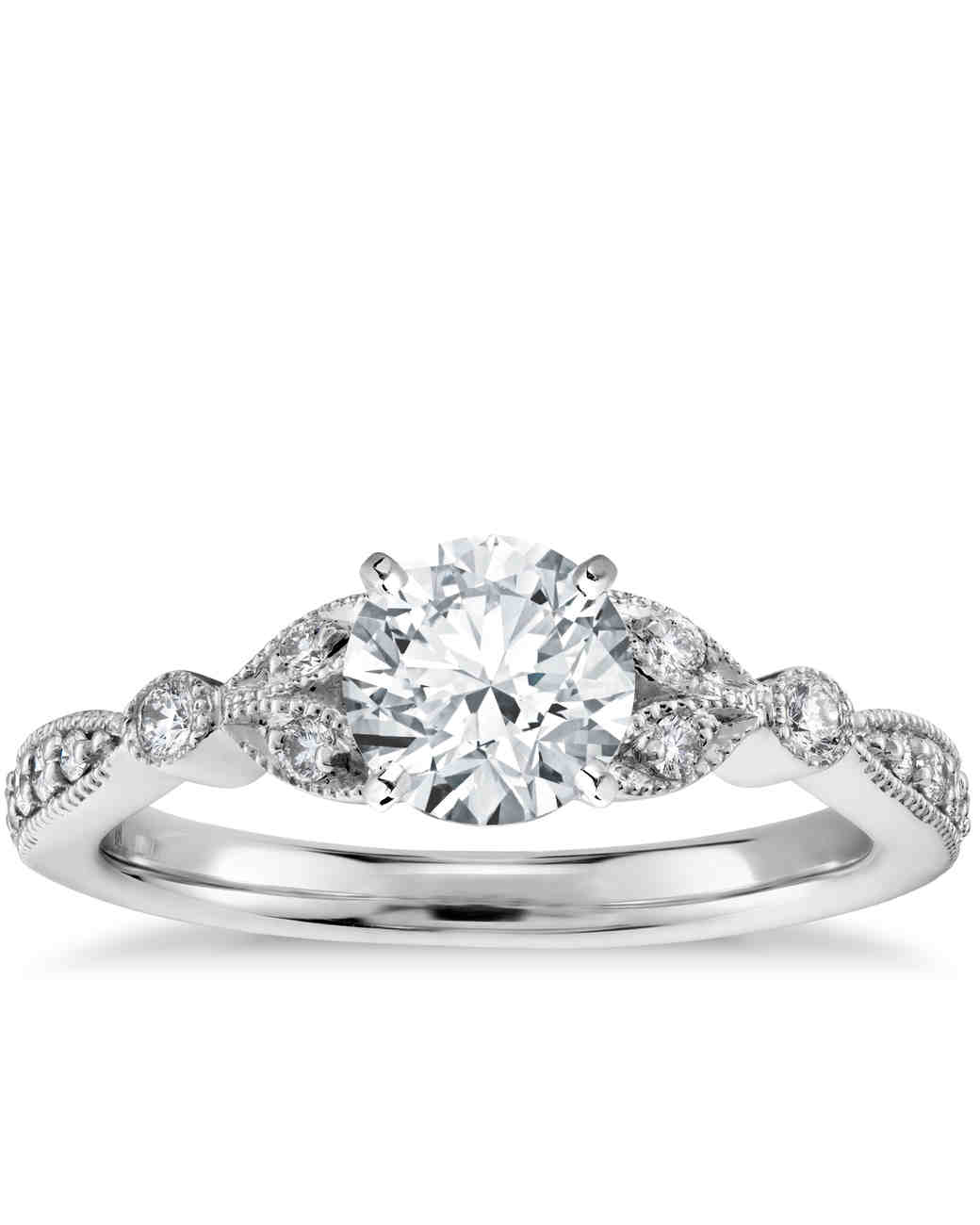 toronto style bands diamond round engagement vintage pear ring
