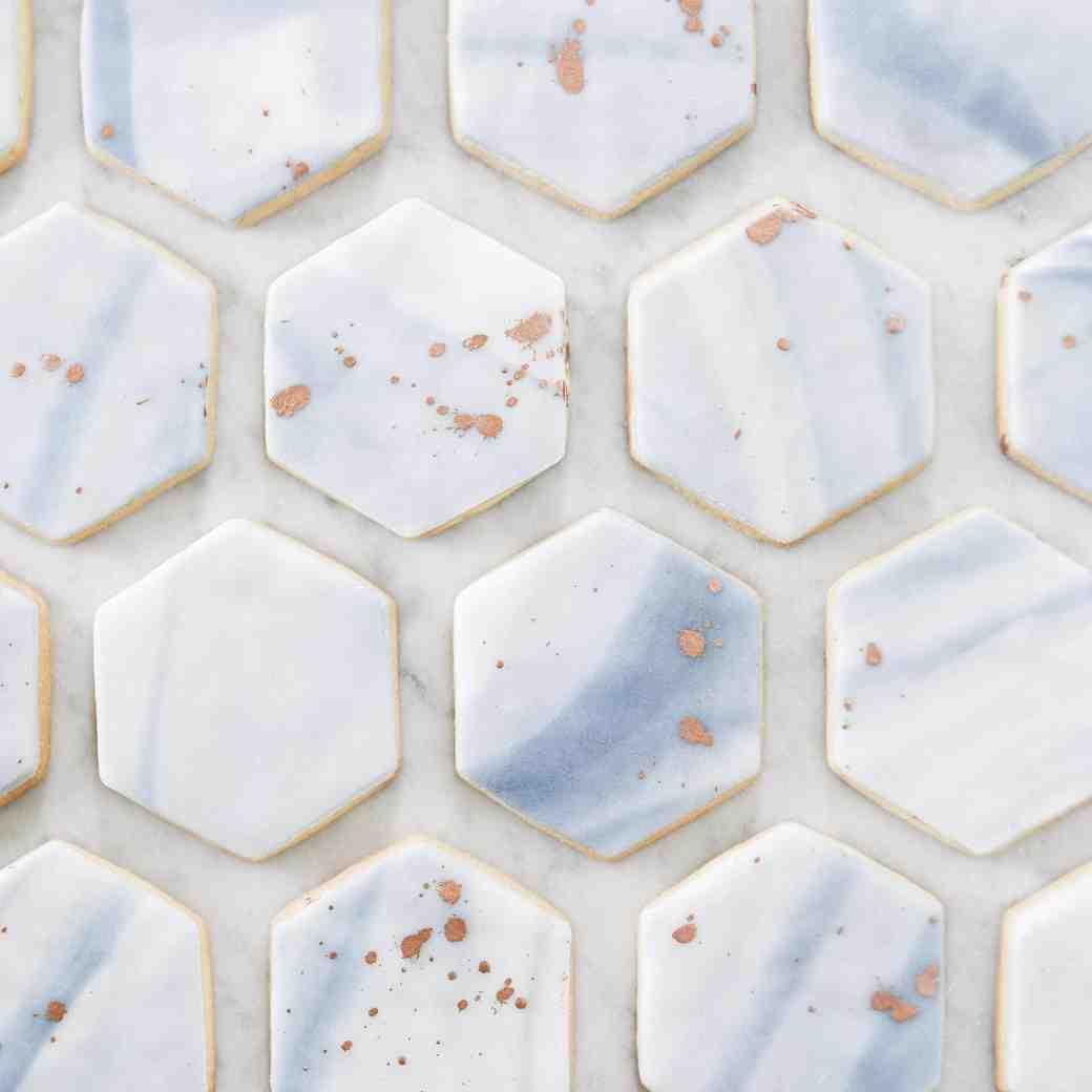 Marbled Hexagonal Sugar Cookies
