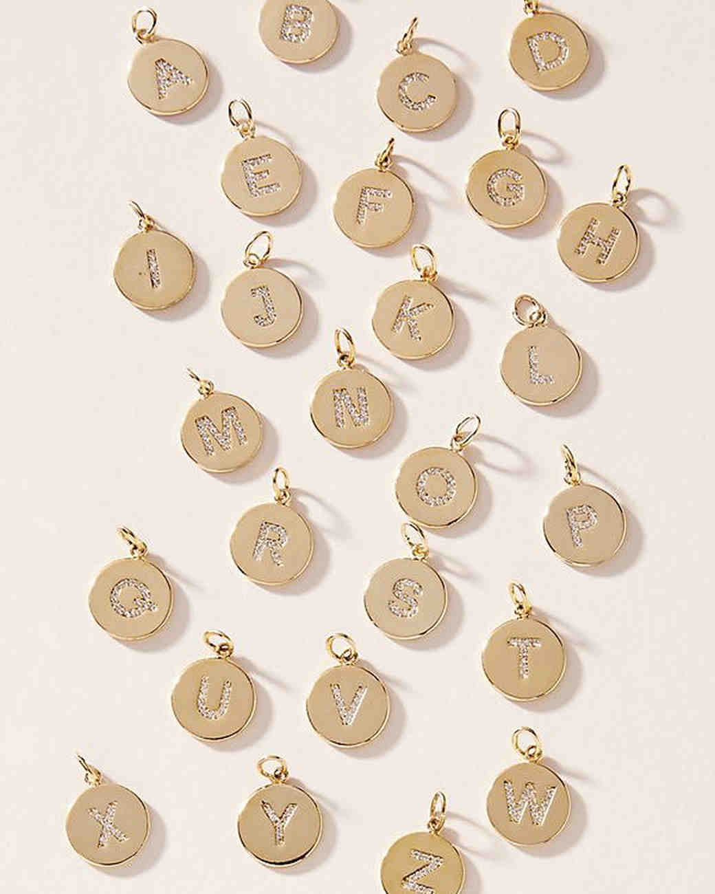 personalized bridesmaids jewelry gift letter charms