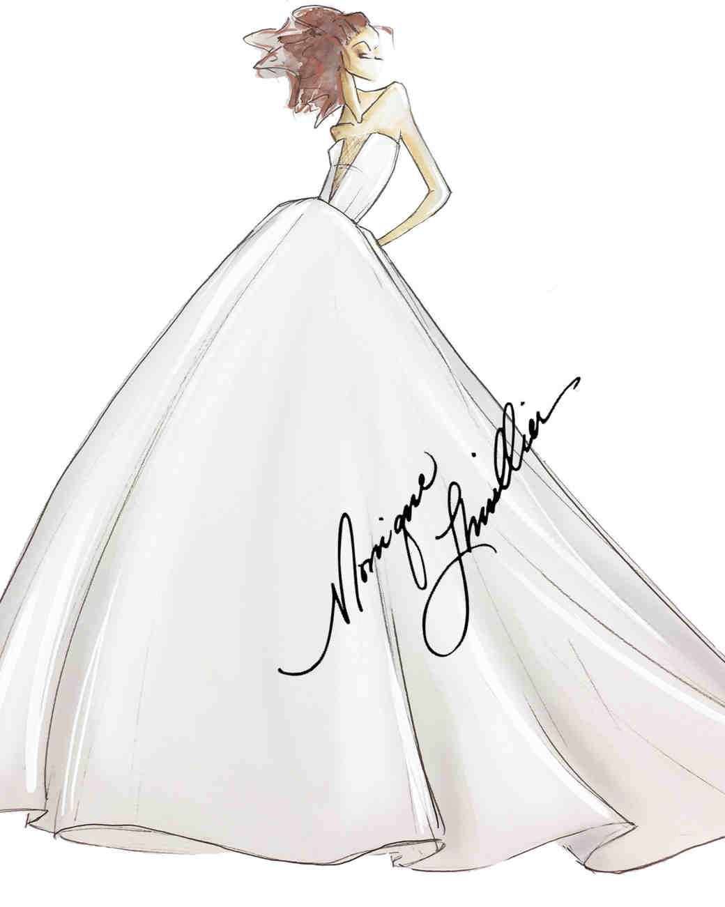 Spring 2019 Bridal Fashion Week Preview Sketch, Bliss by Monique Lhuillier