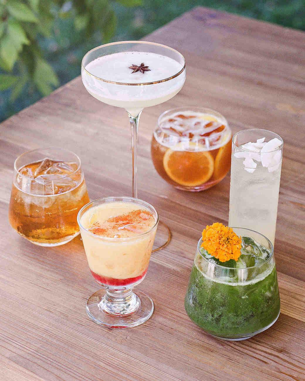 jenna alok wedding wine country california specialty drinks