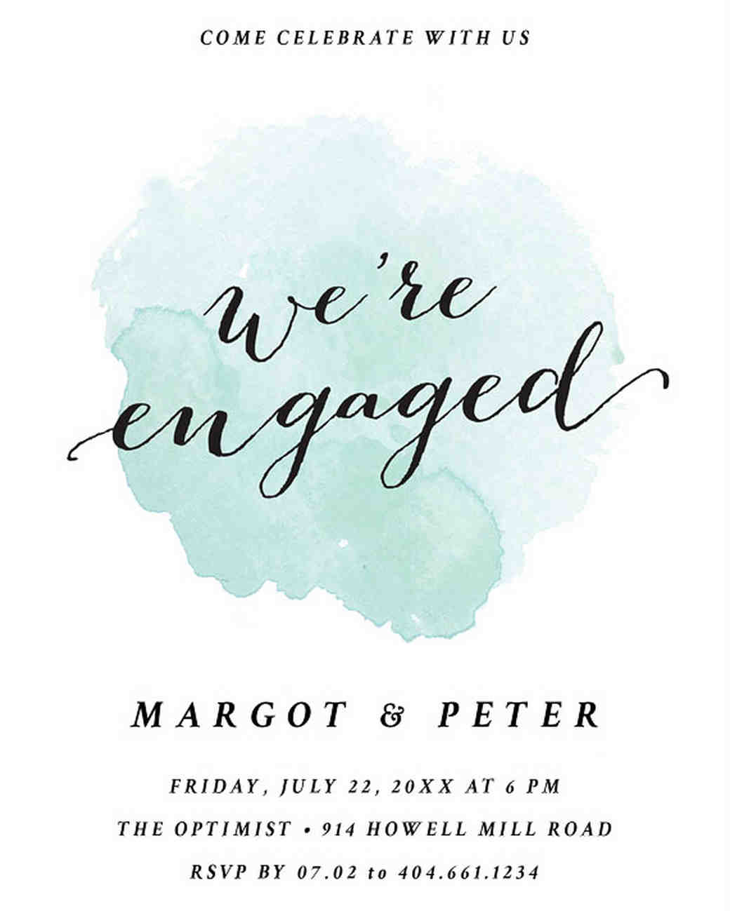 29 paperless engagement party invitations martha stewart weddings