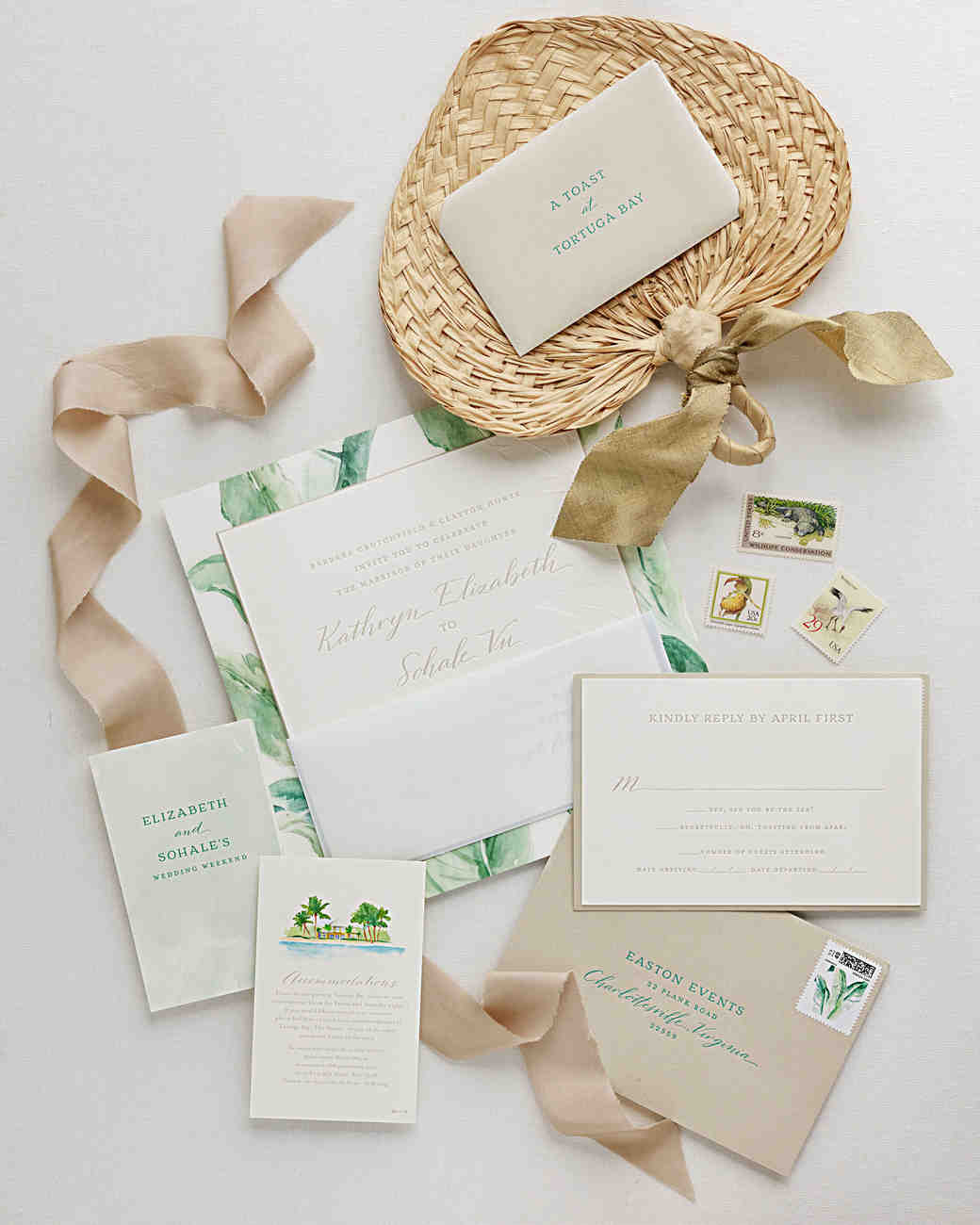 elizabeth sohale wedding dominican republic invitation suite
