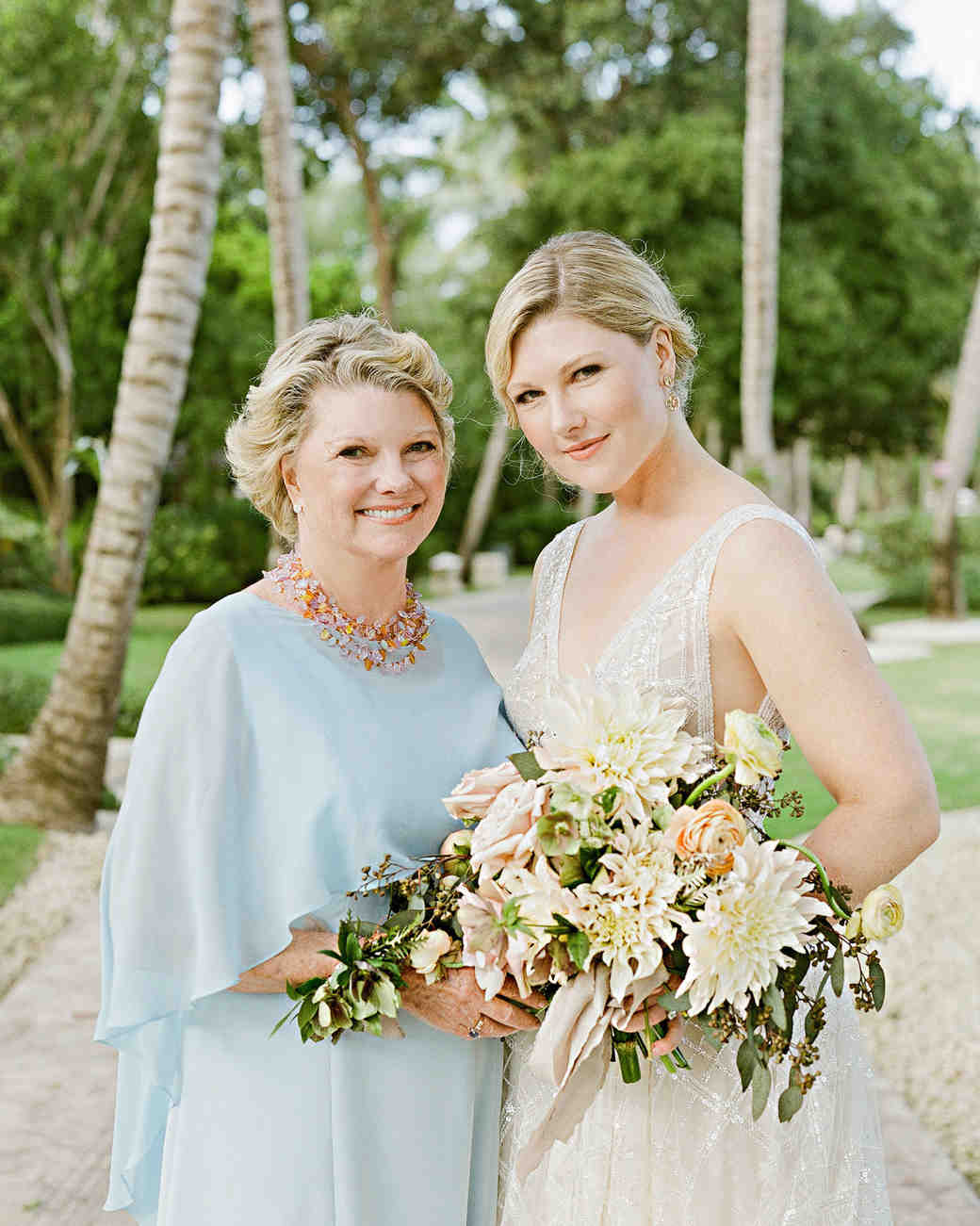 elizabeth sohale wedding dominican republic mother and bride