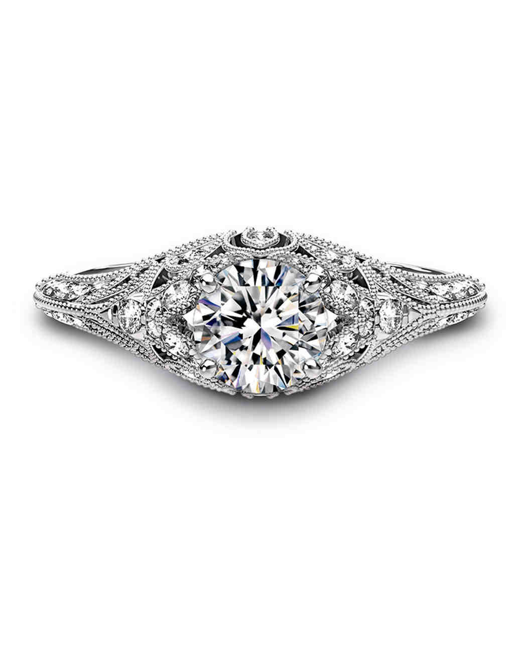 Forevermark by Crossworks vintage-inspired engagement ring