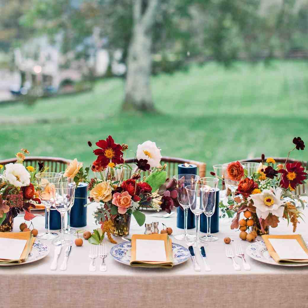 reception table centerpieces