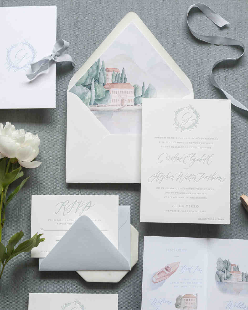 invitation suite with envelope liner
