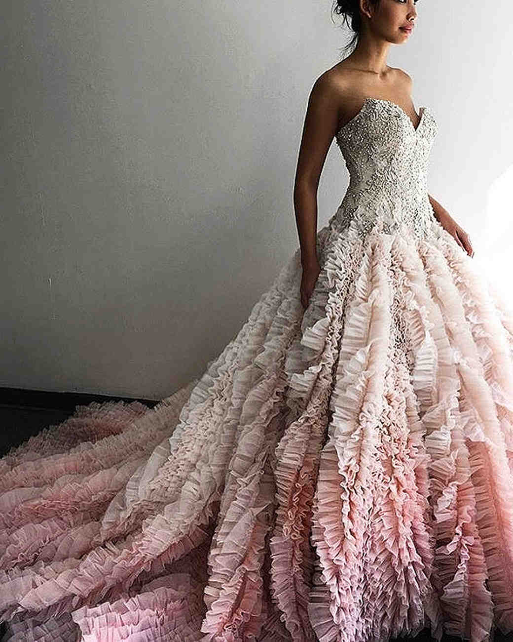 Our most popular instagram photos ever martha stewart for Pink ombre wedding dress