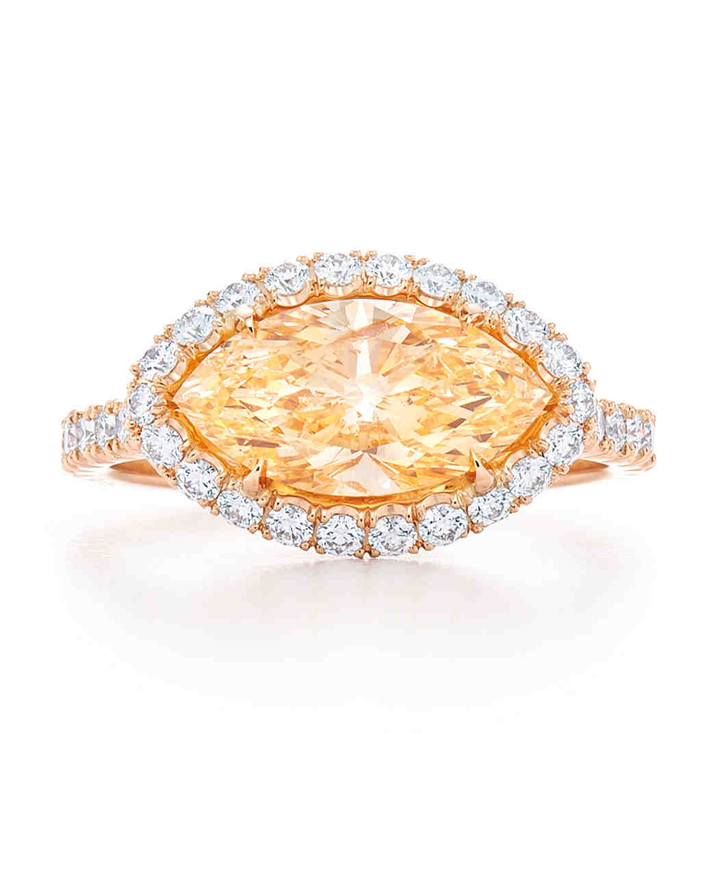 Kwiat Marquise-Cut Yellow Diamond Engagement Ring
