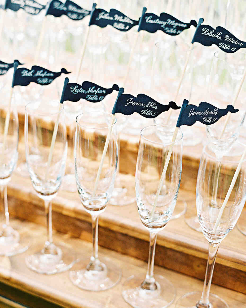 stephanie philip wedding maryland champagne glasses drink stirrers