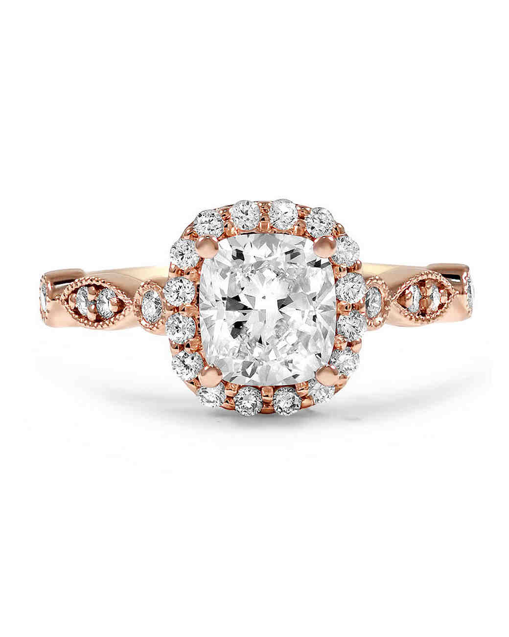 Brilliant Earth Cushion-Cut Diamond Engagement Ring on Rose Gold Band