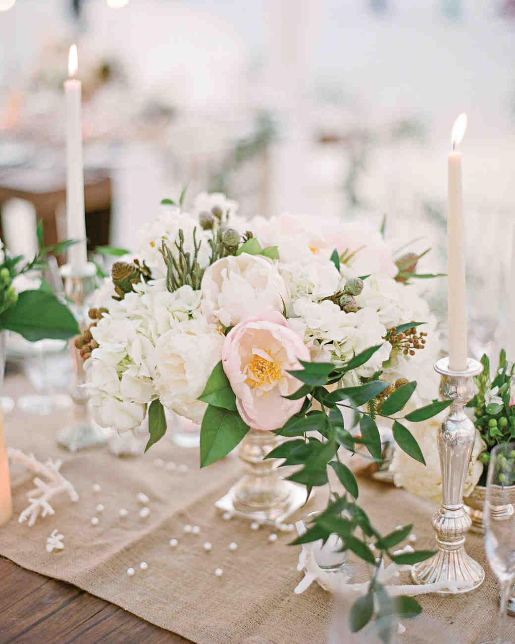 Wedding Reception Centerpieces Candles: The Prettiest Peony Wedding Centerpieces