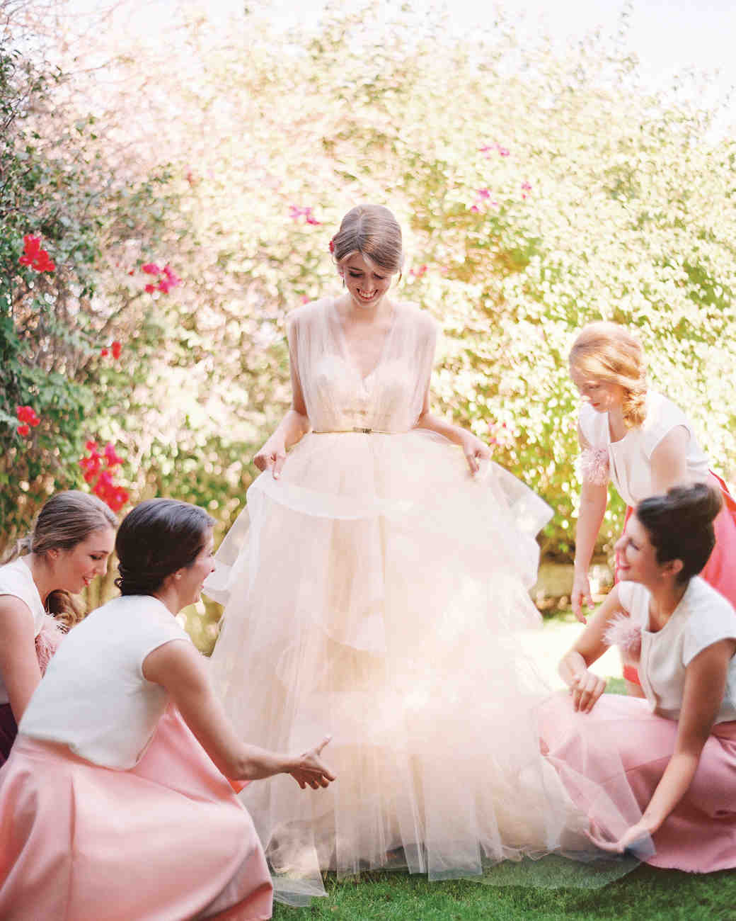 16 pretty in pink wedding dresses martha stewart weddings junglespirit Image collections