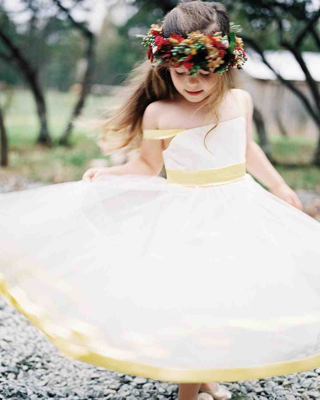 Flower Girl with Fall Flower Crown
