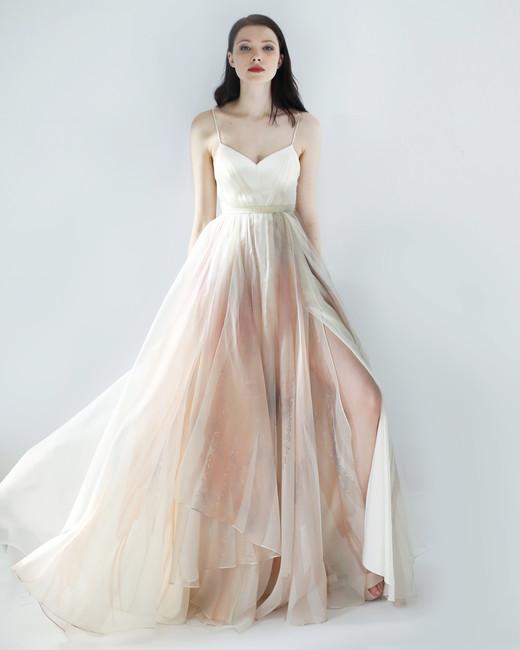 spaghetti strap ball gown leanne marshall wedding dress spring2018