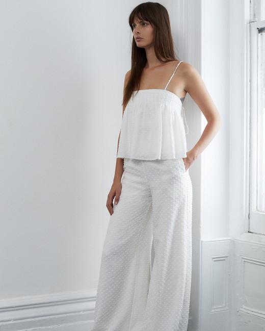 lein fall 2018 wedding dress two piece spaghetti straps trousers