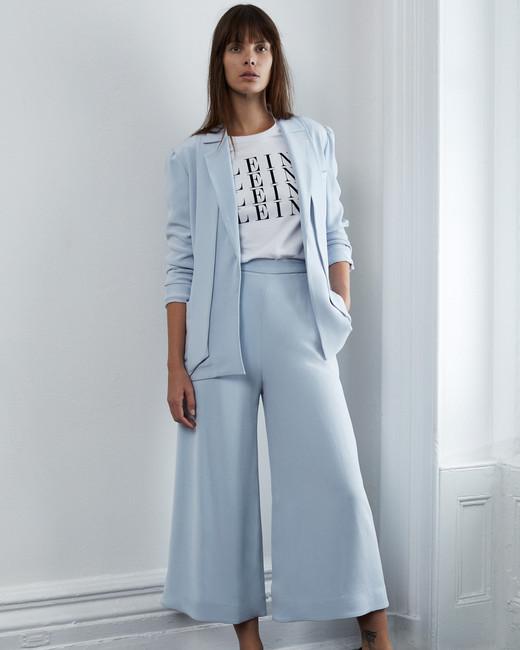 lein fall 2018 wedding dress blue two piece pantsuit trousers
