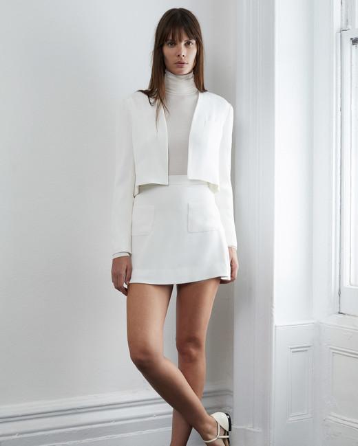 lein fall 2018 wedding dress separates jacket short skirt