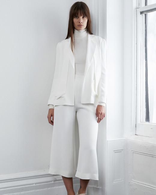 lein fall 2018 wedding dress separates jacket gaucho pants