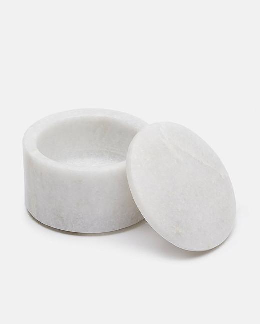 ring boxes slim white marble
