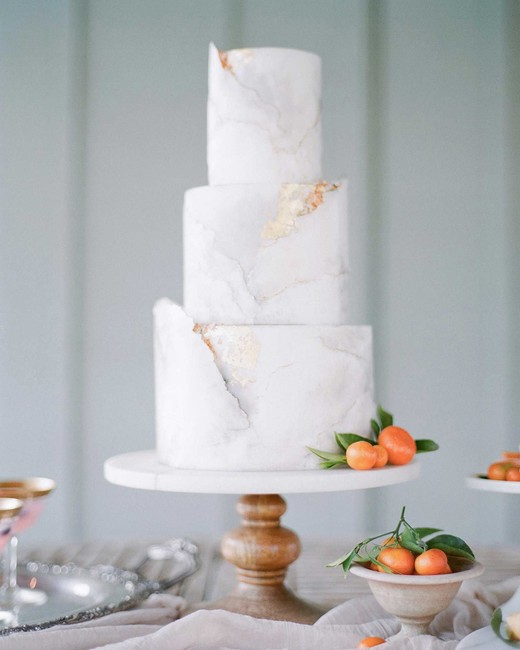 white marbled cake