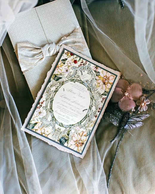fall invites ornate card