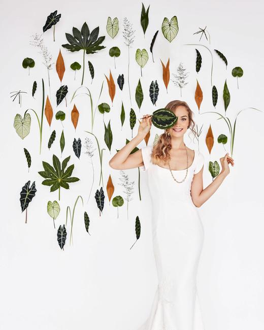 foliage photo wall