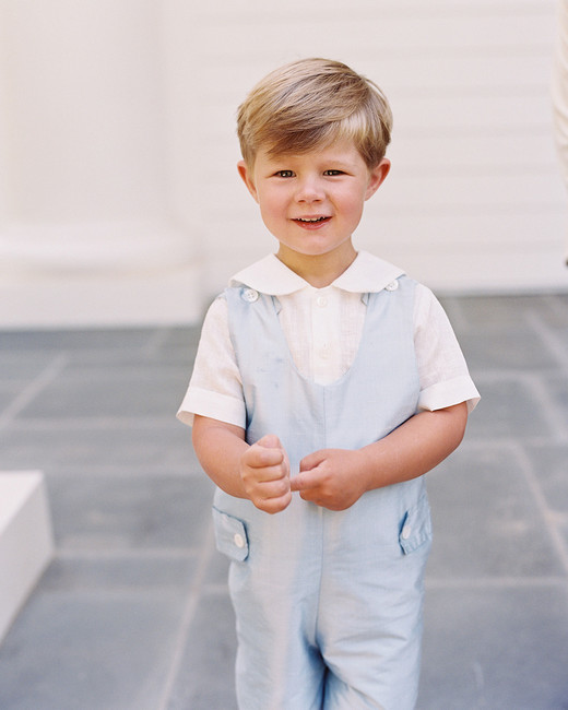 ring bearer summer romper peter pan collar