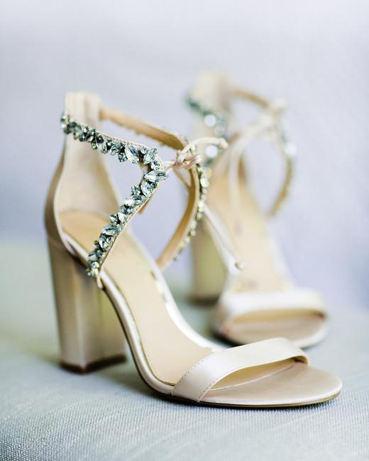 erika evan wedding bride's shoes