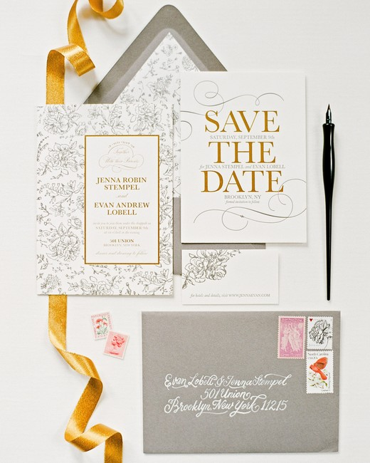 fall invites silver and gold suite