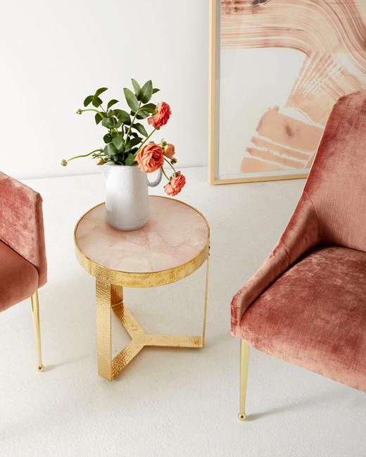 pink registry side table