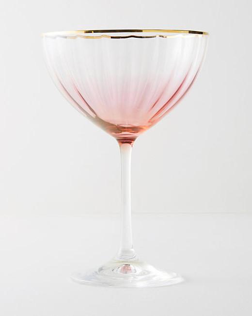 pink registry wine glass