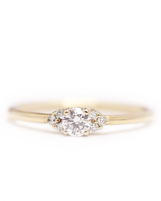 Khim Jewelry 14-Karat Gold Diamond Cluster Ring