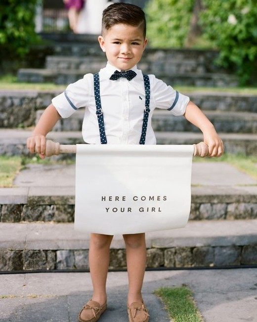 Ring Bearer scroll sign