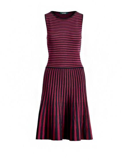 Lauren Ralph Lauren Striped Fit & Flare Dress
